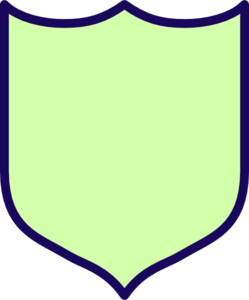 Lime Shield Clip Art