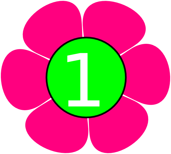 1 Pink Green Flower Clip Art at Clker.com - vector clip ...