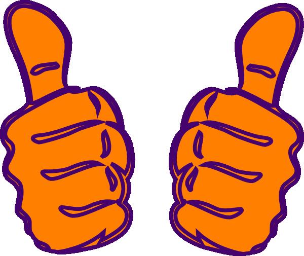 double thumbs up lighter orange clip art at clker com vector clip rh clker com