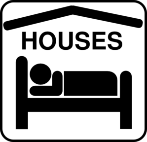 Hotel Sleeping Accomodation Clip Art - Black/white Clip Art