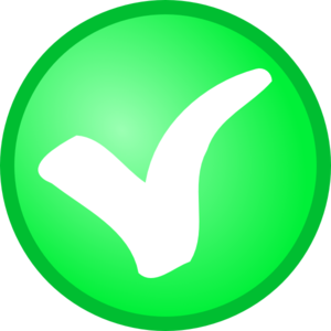 Small Green Check Mark Clip Art