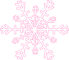Snowflake Soft Pink Clip Art