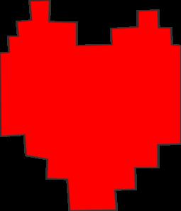 Undertale Pixel Heart Clip Art at Clker com - vector clip art online