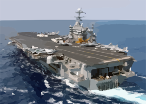Uss Harry S. Truman (cvn-75) Steams Underway In The Eastern Mediterranean Sea Clip Art