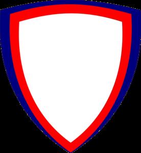 shield red blue clip art at clkercom vector clip art