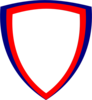 Shield Red Blue Clip Art