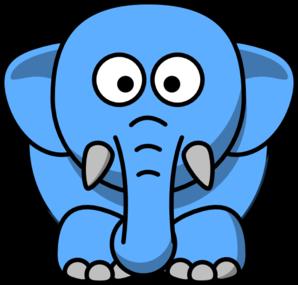 cartoon elephant clip art at clker com vector clip art online rh clker com