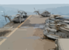 A Wash Down For Deployed Helicopters As Well As The Flight Deck Is In Order After The Amphibious Assault Ship Uss Kearsarge Clip Art