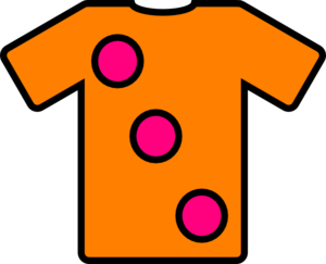 Orange Pink Tshirt Clip Art