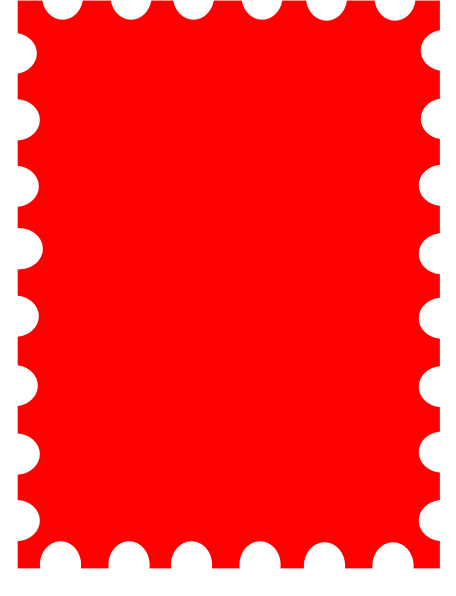 Blank Postage Stamp Template Dedicated To Susi Tekunan By R.d. Miccahofman  Clip Art At Clker.com   Vector Clip Art Online, Royalty Free U0026 Public Domain