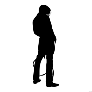 Silhouette Fighter Character Clip Art