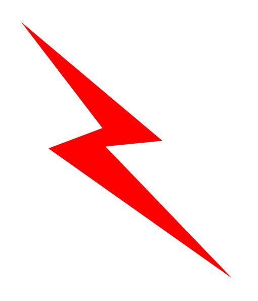 Red Lightening Bolt Clip Art At Vector Clip Art Online Royalty F