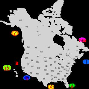 Canada Map Clip Art at Clker.com - vector clip art online, royalty ...