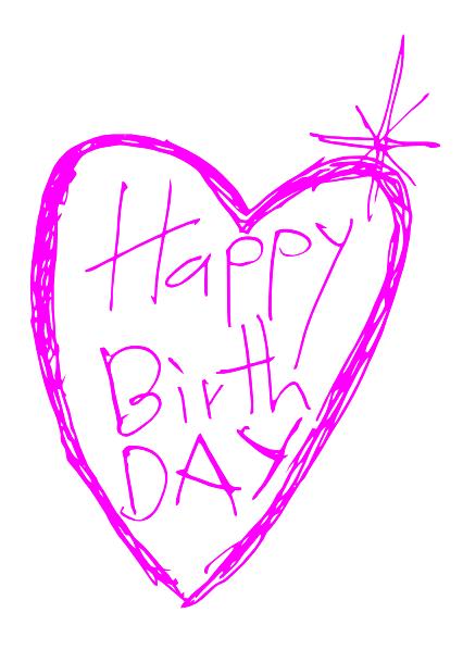 Happy Birthday Heart Clip Art At Clker Com Vector Clip Art Online