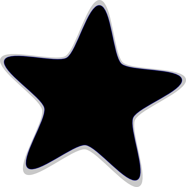 black and white star clip art - photo #37