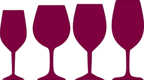 Burgundy Wine Glasses Clip Art