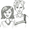 Boy And Girl Teens Clip Art