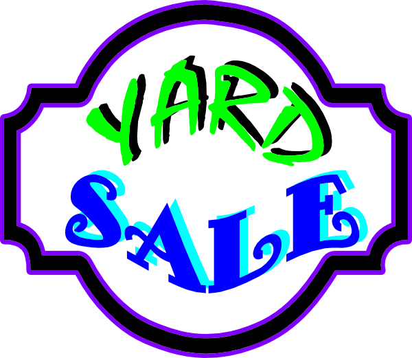 Yard Sale Sign Clip Art at Clker.com - vector clip art online, royalty ...