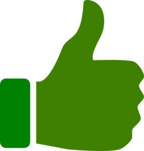 Green Thumbs Up  Clip Art