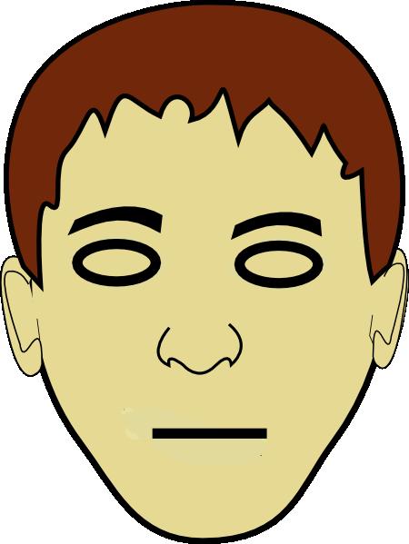Straight Line Face Clip Art : Straight face clip art at clker vector