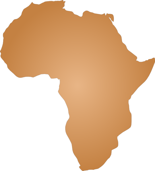 clipart africa map outline