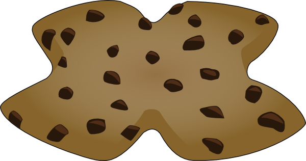 chocolate chip cookies clipart. X Shaped Cookie clip art