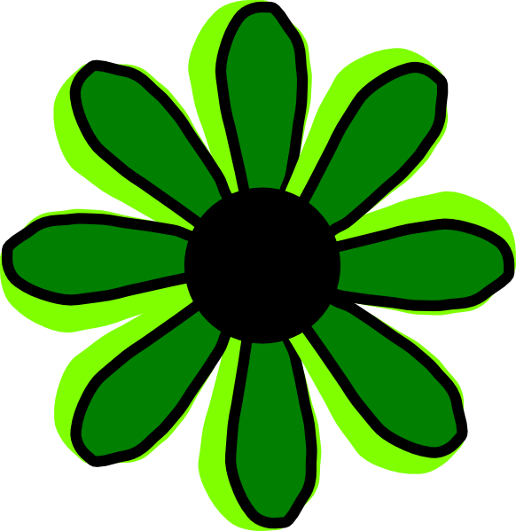 free green flower clipart - photo #17