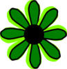 Green Flower 2 Clip Art