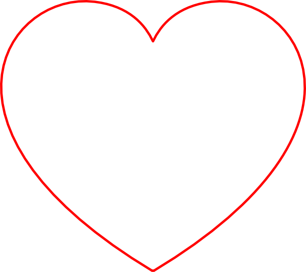 red outline heart clip art at clkercom vector clip art