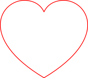 Red Outline Heart Clip Art