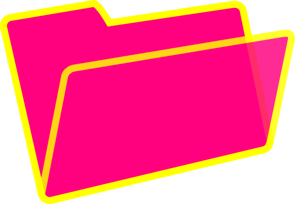 yellow and pink folder clip art at clker com vector clip art rh clker com folder clip art free folder clipart png