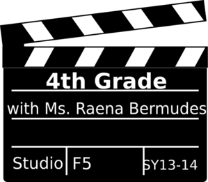4th Grade Clapboard Clip Art