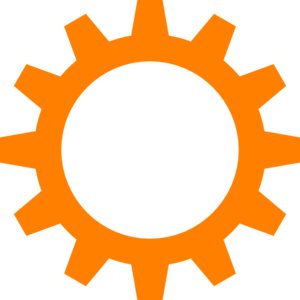 Orange Cog Wheel Clip Art