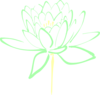 Mint Cream Lotus Clip Art
