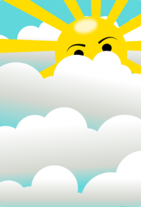 Clouds With Hidden Sun Clip Art