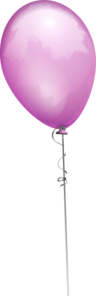 Purple Balloon Long String Clip Art