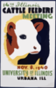14th Illinois Cattle Feeders Meeting Nov. 8, 1940, University Of Illinois, Urbana, Ill. Clip Art