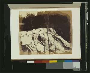 Falls On The Colville (mill River), 1860 Clip Art