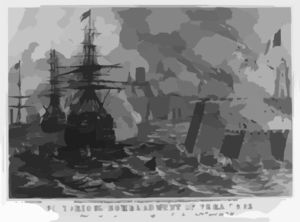 Victorious Bombardment Of Vera Cruz Clip Art