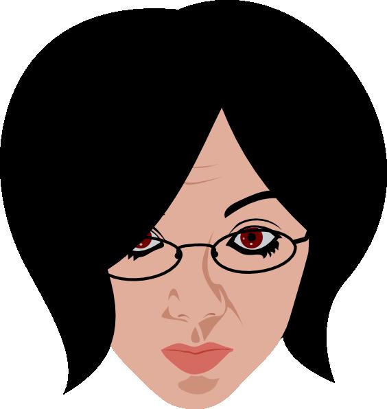 woman wearing glasses clip art at clker com vector clip art online rh clker com