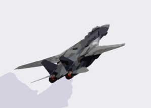 An F-14d Tomcat Makes A Sharp Pull-up In Full Afterburner After Streaking By The Uss Constellation (cv 64) Clip Art