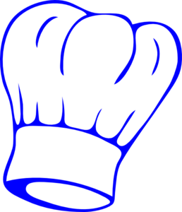 Chef Hat Blue Clip Art