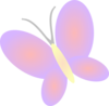 Lilac Butterfly Clip Art