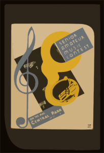 Senior Amateur Music Contest On The Mall, Central Park : Sept. 29 - 1936 8:15 P.m. Clip Art