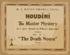 Houdini In The Master Mystery A Super-serial In Fifteen Episodes. Clip Art