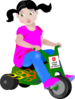 Toddler Biker Clip Art