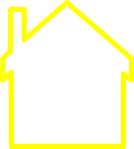 Yellow House Outline Clip Art at Clker.com - vector clip art online ...