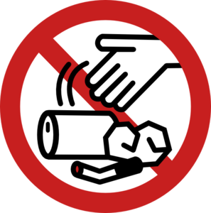 No Littering Sign Clip Art
