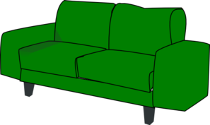 Green Sofa Couch Clip Art