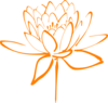Orange Flower Clip Art